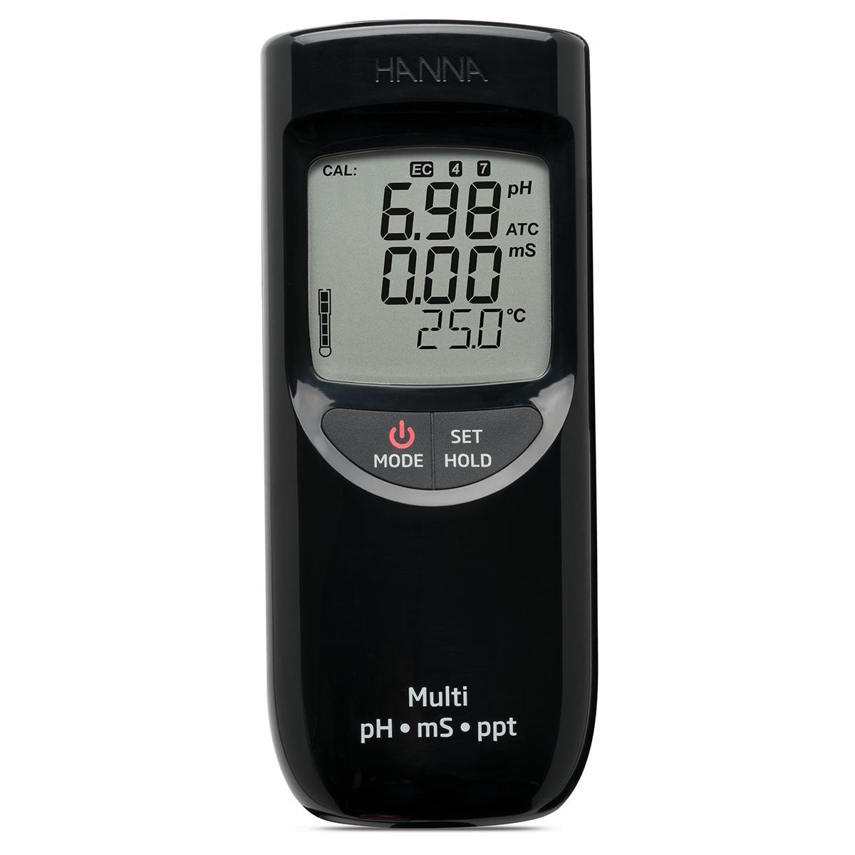 Misuratore portatile di pH/EC/TDS a tenuta stagna (Scala alta) - HI991301