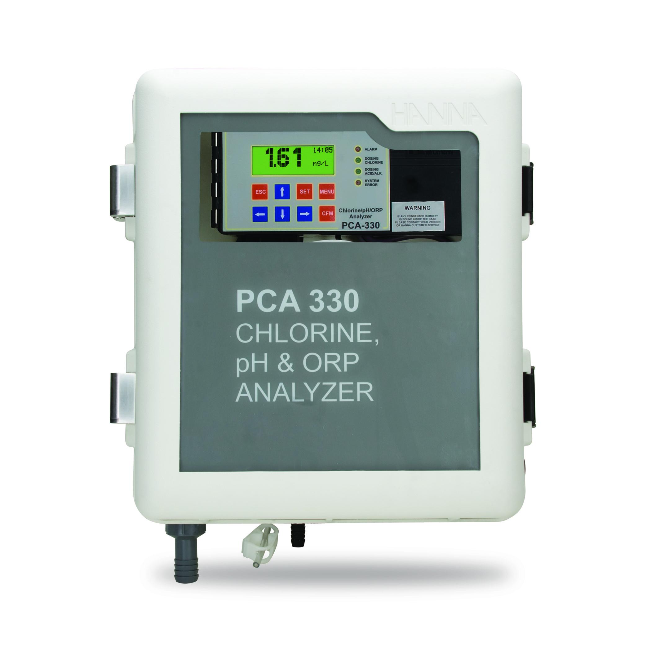 Analizzatore di Cloro, pH, ORP, e Temperatura - Serie PCA300