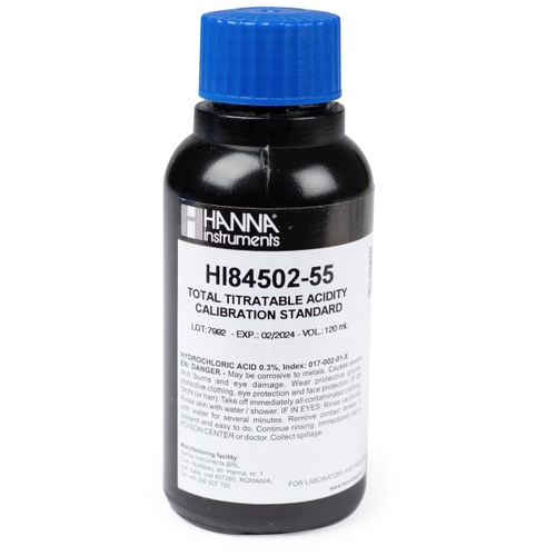 HI84502-55 Total Acidity in Wine Pump Calibration Standard (120 mL)