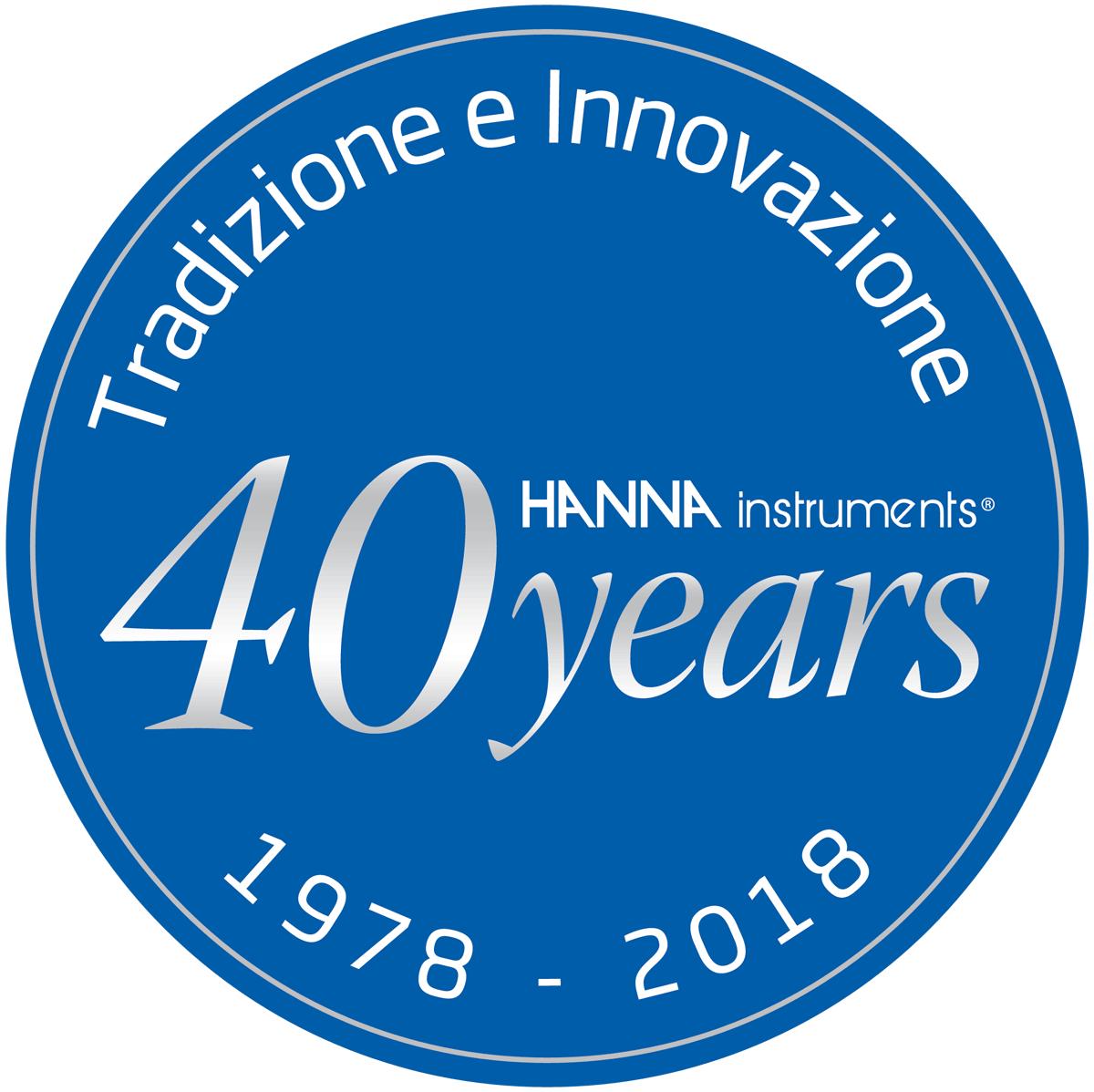 Logo Hanna 40 anni Tradizione e Innovazione