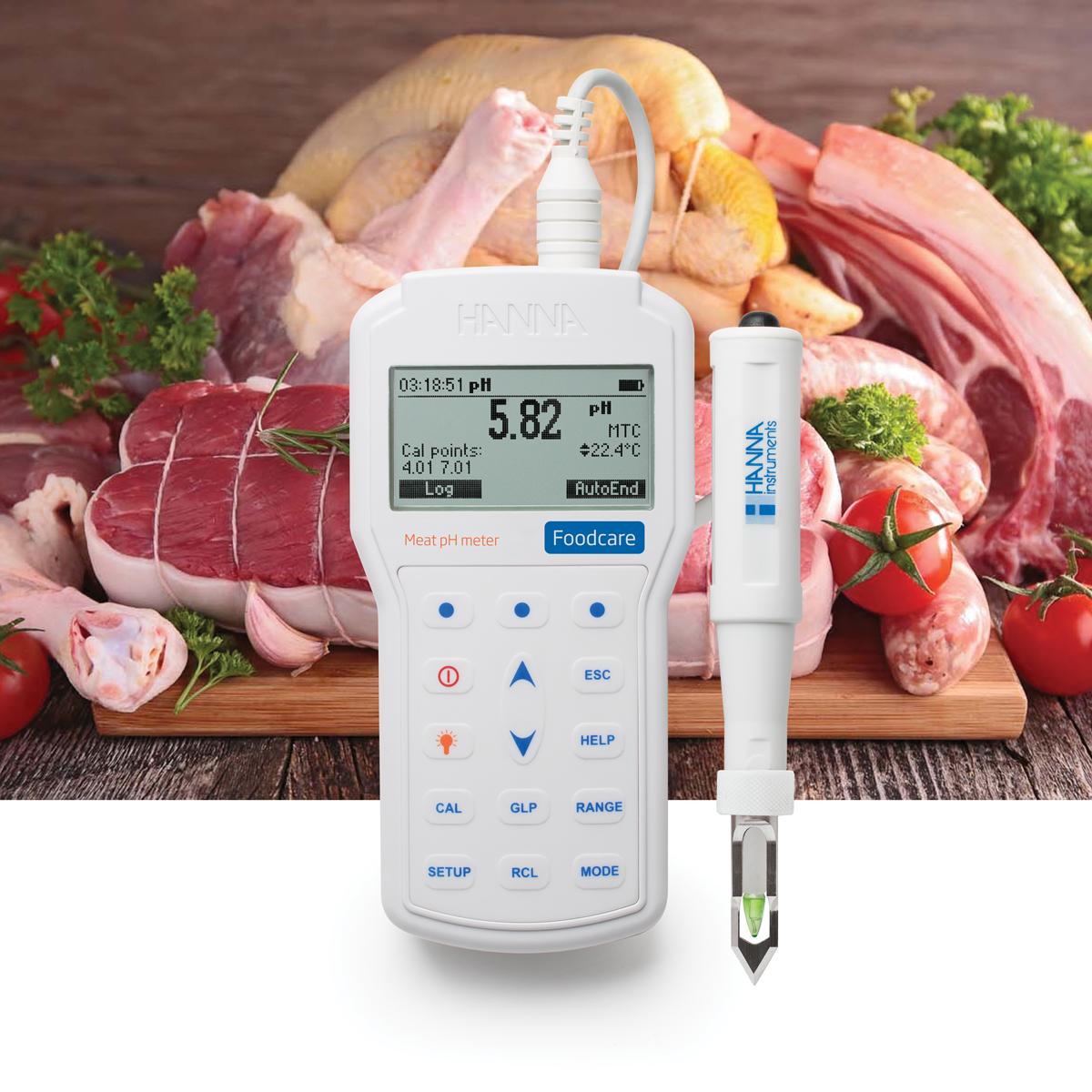 pHmetro portatile professionale per l'analisi della carne