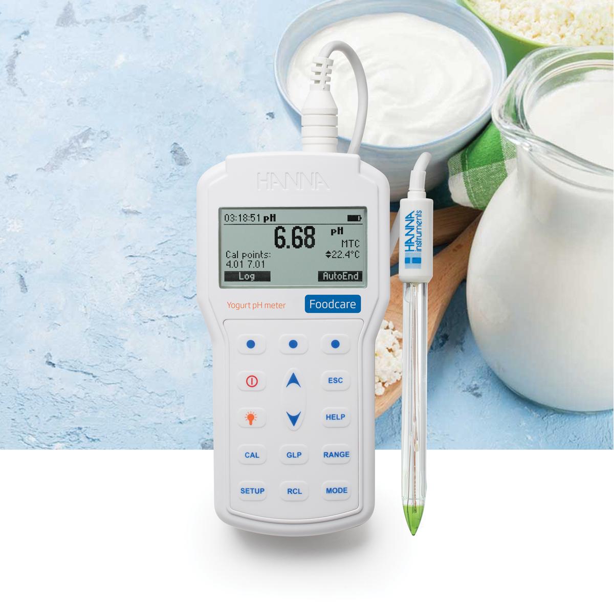 pHmetro portatile professionale per l'analisi dello yogurt