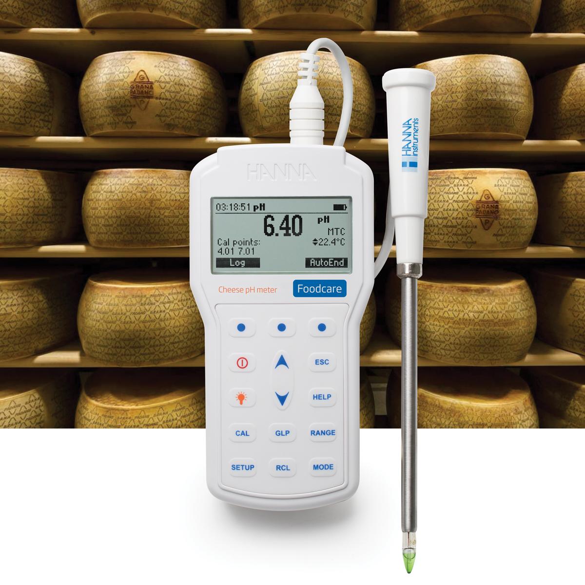 pHmetro portatile professionale per l'analisi del formaggio