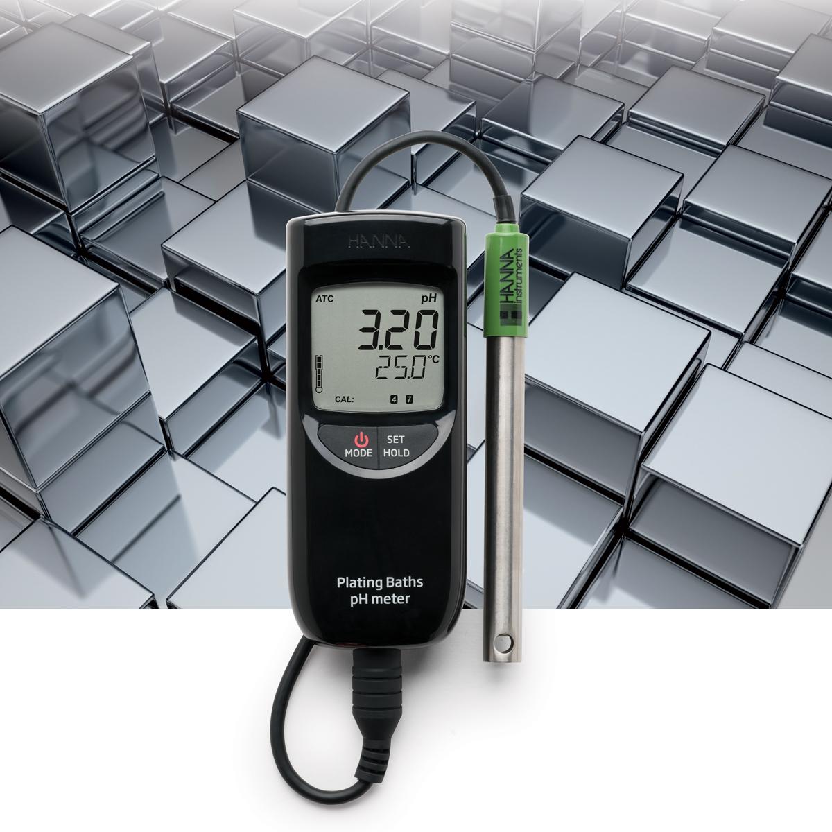 pHmetro portatile per bagni galvanici HI99131