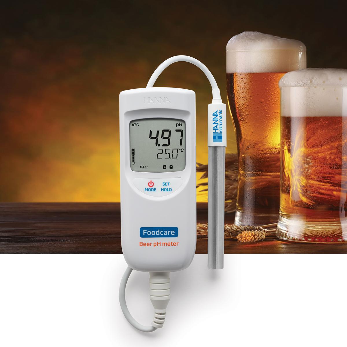 pHmetro portatile per l'analisi della birra HI99151