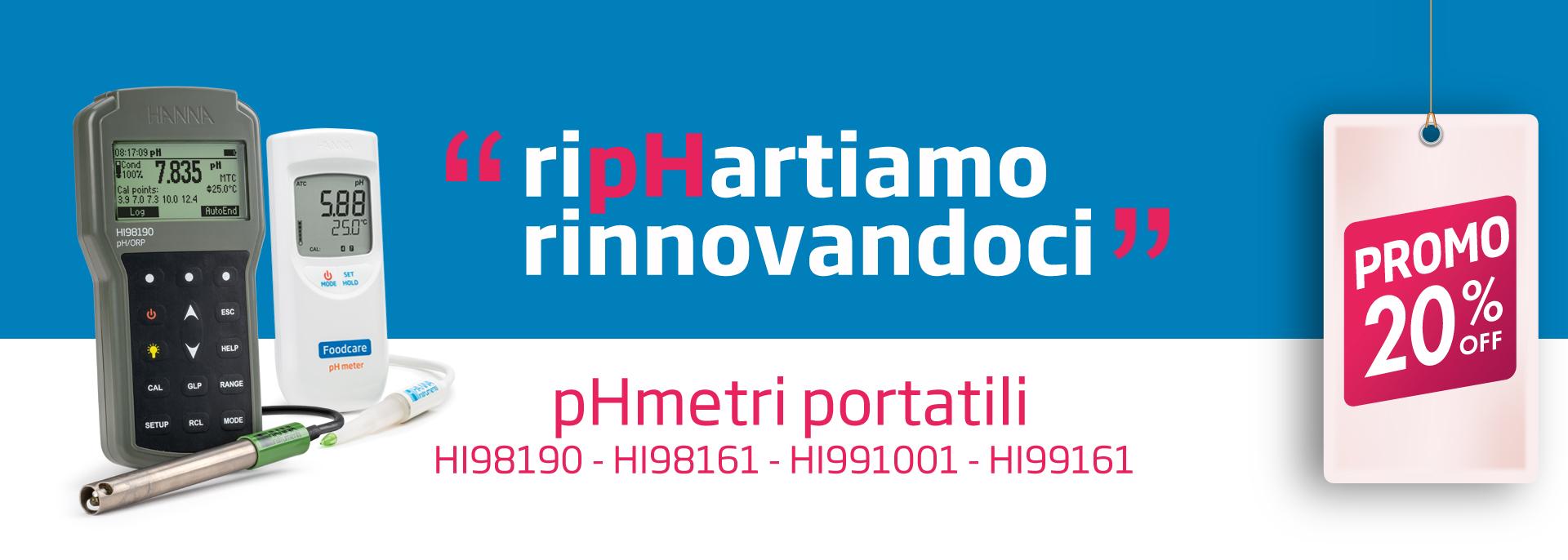 RipHartiamo Rinnovandoci promozione pHmetri portatili