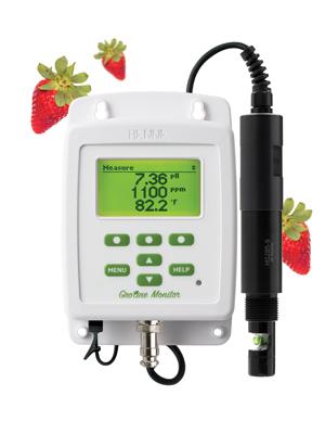 GroLine Monitor – Indicatore combinato pH, EC, Temp per idroponica - HI981420