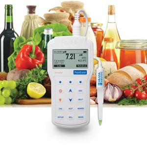 pHmetro portatile professionale per uso alimentare HI98161