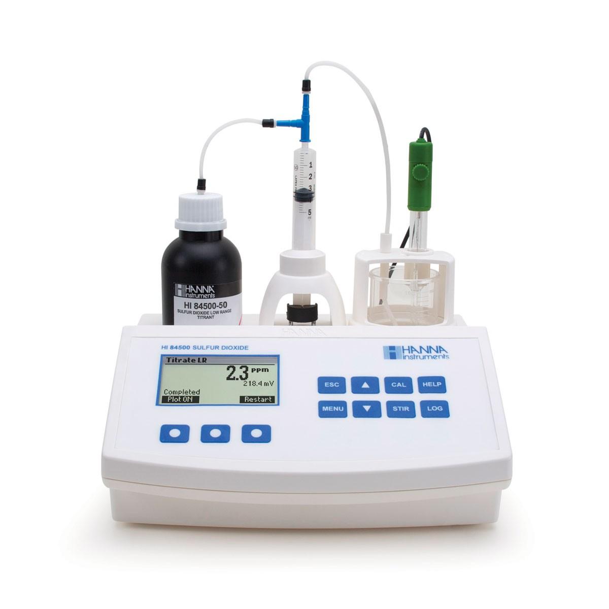 Minititolatori specifico per l'analisi del vino e dei solfiti HI84500-02