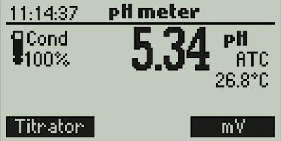 mini titrator pH mv meter